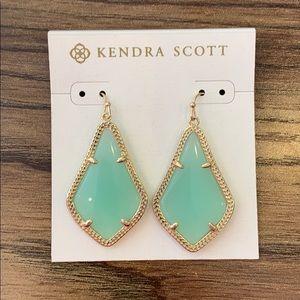 Kendra Scott Alex Earrings in Gold + Mint Stone